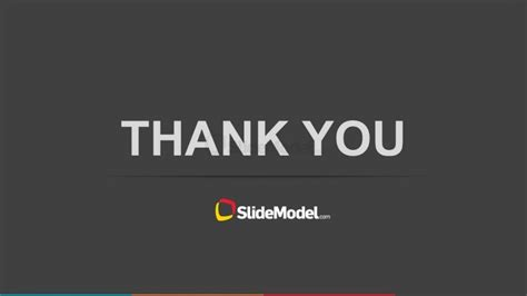 thank you animated templates for powerpoint simple thank you slide design for powerpoint slidemodel