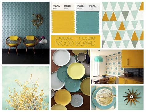turquoise and mustard living room turquoise mustard moodboard colour schemes turquoise mid century design and
