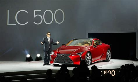 designboom lexus lc 500 showcases future design direction of lexus at naias