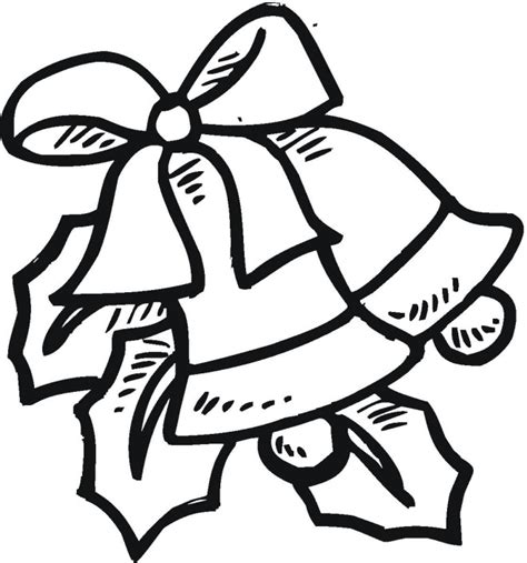 christmas bell colouring pages