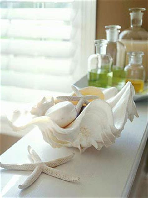 decorate your home with seashells and seashell crafts from