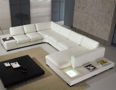 White Leather Sofa Living Room Ideas Modern White Leather Sofa For Living Room Design Ideas Felmiatika