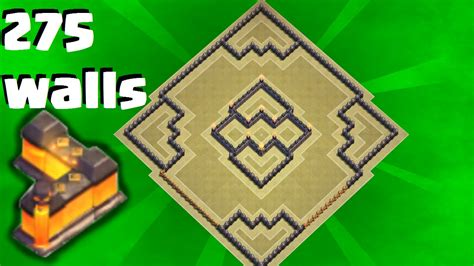 town hall 10 war base 275 walls clash of clans quot new quot town hall 10 th10 anti 3 star war