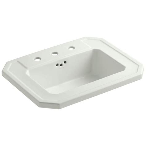 rectangular drop in bathroom sink shop kohler kathryn dune drop in rectangular bathroom sink