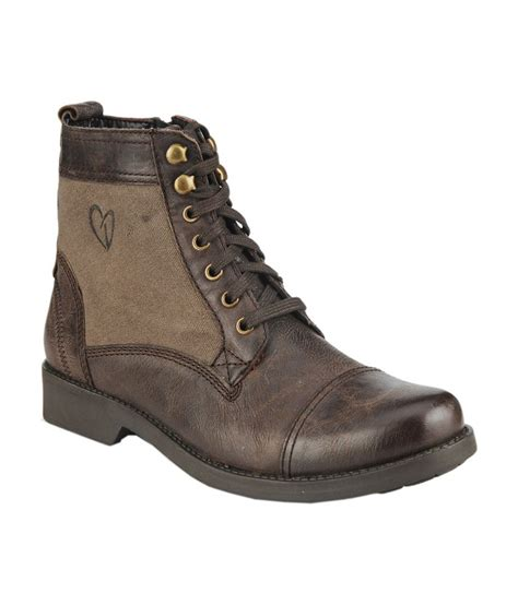 delize brown leather lace boot price in india buy delize