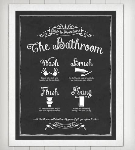 bathroom prints guide to procedures bathroom print prints posters