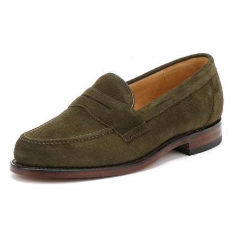 mens suede loafers sale loake mens green eton suede loafers eton tower