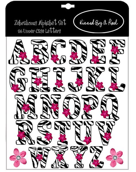 printable zebra striped letters unavailable listing on etsy
