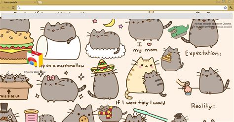 unicorn theme for google chrome theme google chrome pusheen the cat by meel editionss on