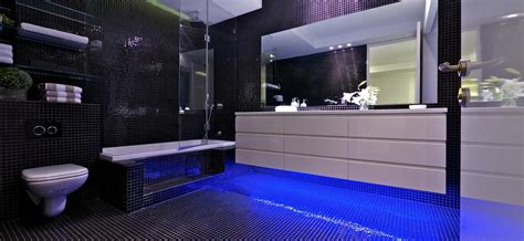 black white blue bathroom the stunning sky penthouse in israel