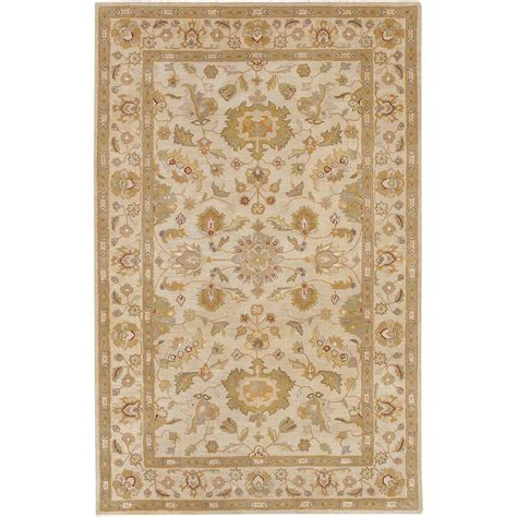 weavers area rugs artistic weavers gorham beige wool 5 ft x 8 ft area rug ogalla 58 the home depot