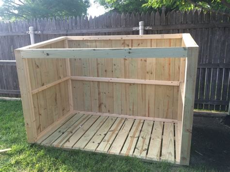 Garbage Shed by How To Build A Trash Can Shed Plans Available