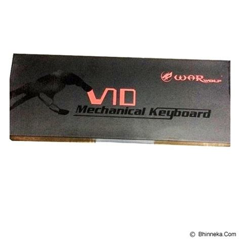 Keyboard Warwolf V10 jual warwolf v10 semi mechanical gaming keyboard murah bhinneka