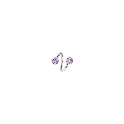 piercing spirale pour oreille avec boules acrylique de 4mm