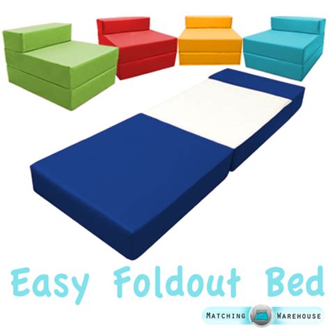 Folding Foam Chair Bed Fold Out Foam Guest Z Bed Chair Waterproof Sleep In Or Outdoor Futon Single Ebay