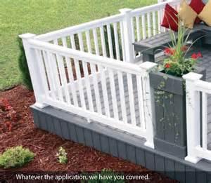 pvc deck railing tamko vinyl deck railing products