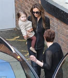 Victoria beckham takes harper and romeo to cheer on her niece in small