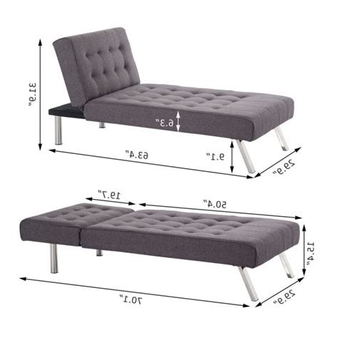 Reclining Futon by Modern Reclining Futon With Chaise Lounge Sleeper Sofa