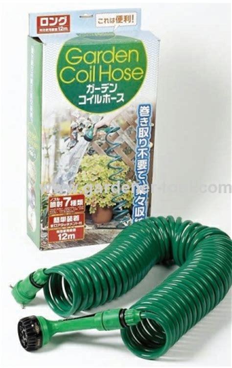Garden Hose Options 50ft Water Coil Hose With 4 Way Hose Nozzle Set