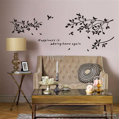 Painting Living Room Quote Happiness Is Being Home Again Vinyl Quotes Wall Stickers