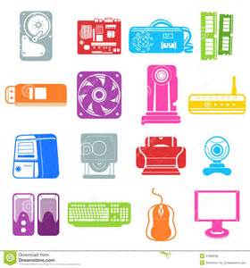 Computer Desktop Components Computer Component Icons Royalty Free Stock Photo Image