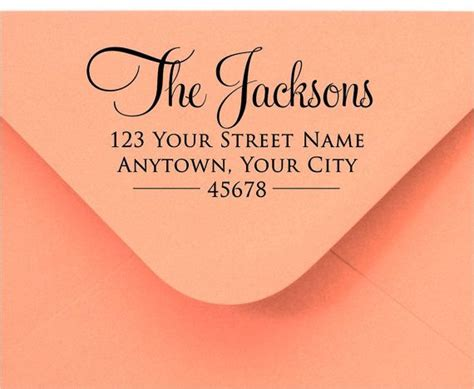 personalized rubber sts return address 17 best ideas about return address labels on