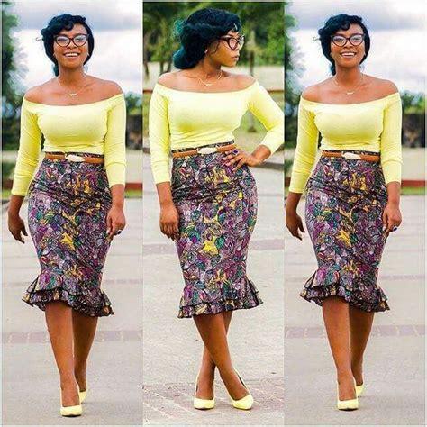 african attire skirt double peplum skirt african fashion ankara kitenge