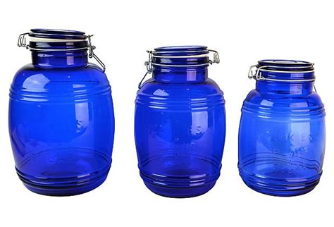 Cobalt Blue Kitchen Canisters by Cobalt Kitchen Canisters S 3 Cobalt Blue Kitchens