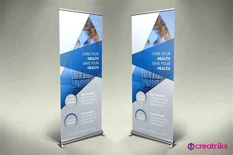 medicine roll up banner v003 presentation templates