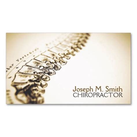 chiropractor business card chiropractor chiropractic health business card