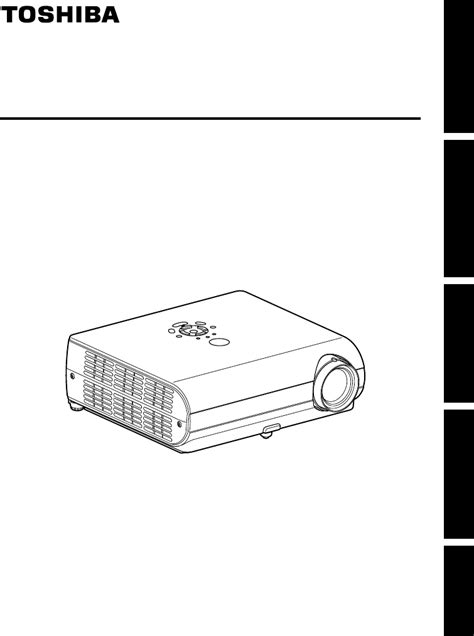 Toshiba Projector Tdp S35 User Guide Manualsonline Com