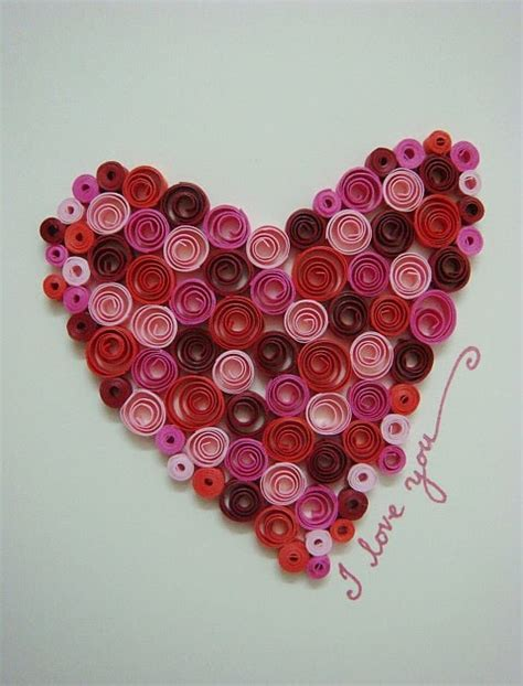 heart quilling pattern azlina abdul quilled heart card