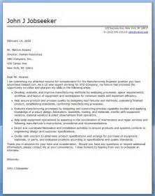 Fabrication Engineer Cover Letter by Cover Letter For Manufacturing Engineer Resume Downloads