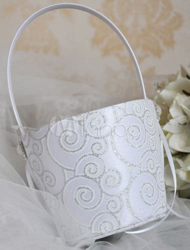 pattern flower girl basket silver spiral pattern flower girl basket milanoo com