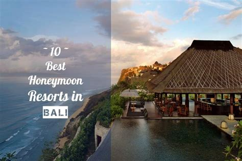 honeymoon resorts  bali  prices