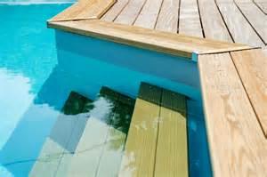piscine bois escalier interieur marches d escalier de piscine bois 183 bluewood