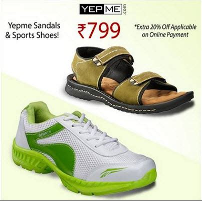 yepme sports shoes sandals combo rs 639