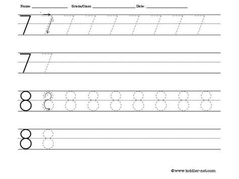 printable tracing number worksheets number tracing worksheet 7 8 homeschooling number