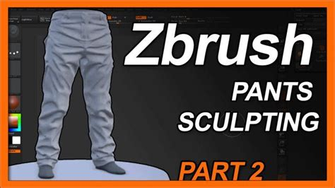 zbrush jeans tutorial zbrush pants sculpting part2 pants legs and the fold