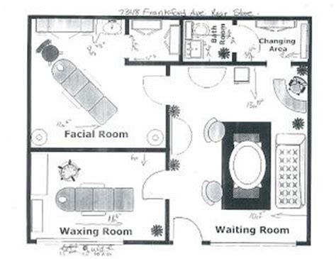 massage spa floor plans 25 best ideas about spa facial room on pinterest facial