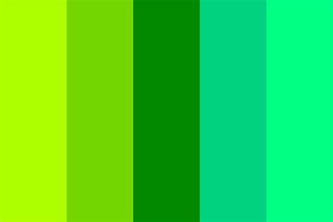 green color schemes i loved in shades of green color palette