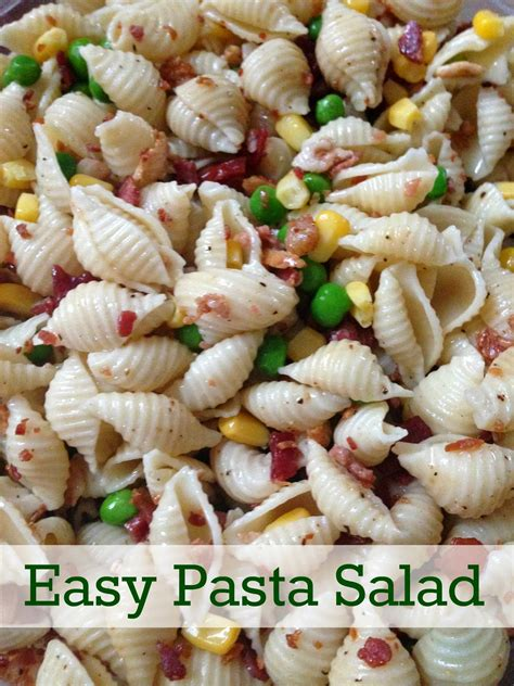 easy pasta salad simply made with love bacon and pea pasta salad