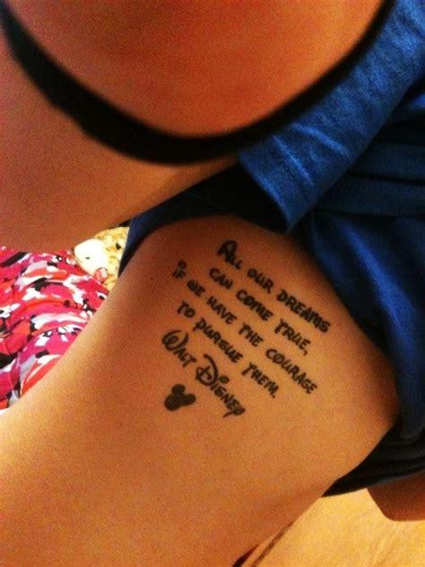 quote tattoos inspired  walt disney movies entertainmentmesh