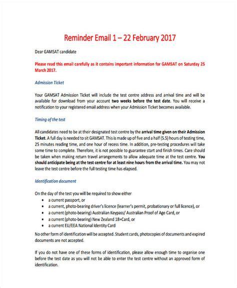 formal reminder email format sle invitation reminder email image collections