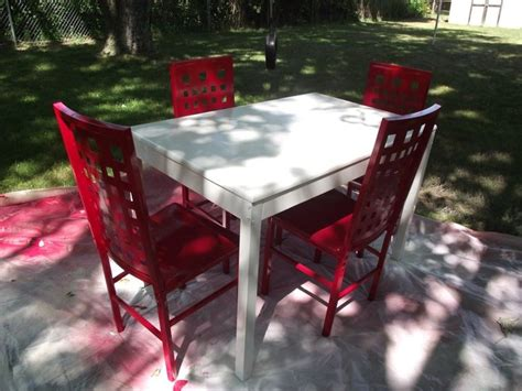 spray painting kitchen table spray painted kitchen table and chairs a bit of a fixer