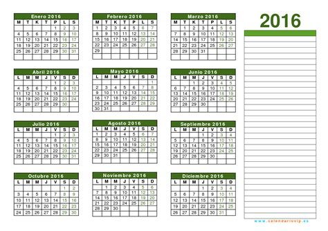 Calendario De Calendario 2016 Para Imprimir Gratis