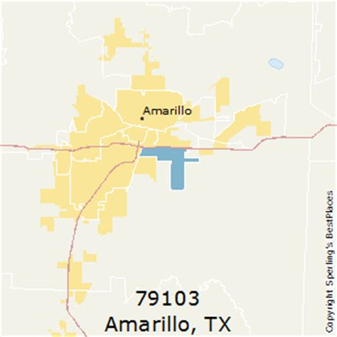 amarillo texas zip code map best places to live in amarillo zip 79103 texas