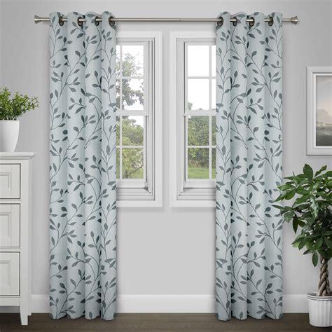 vine curtains brinley home 84 inch grommet top vine curtain single