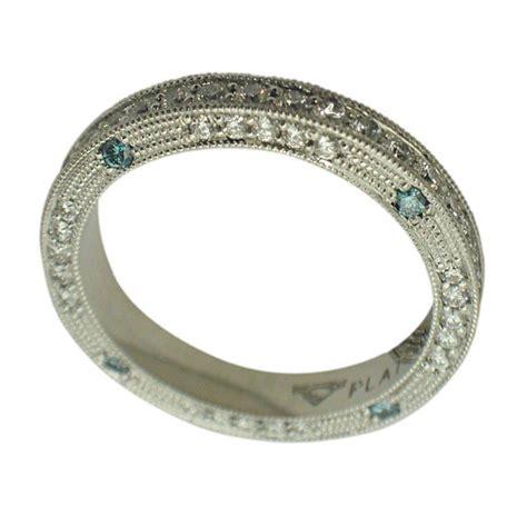 platinum brilliant blue engraved