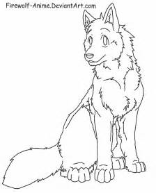 Anime Sitting Outline by Wolf Sit Lineart By Firewolf Anime On Deviantart